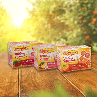 Vitamina C Emergen-C en polvo efervescente