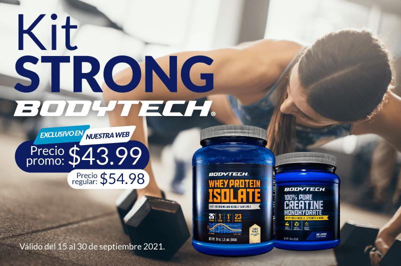 Kit strong con creatina y proteina de whey aislada